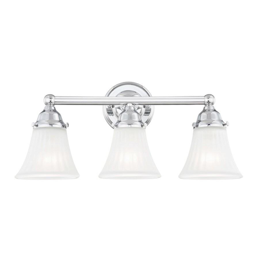 quoizel 3 light chrome transitional vanity light