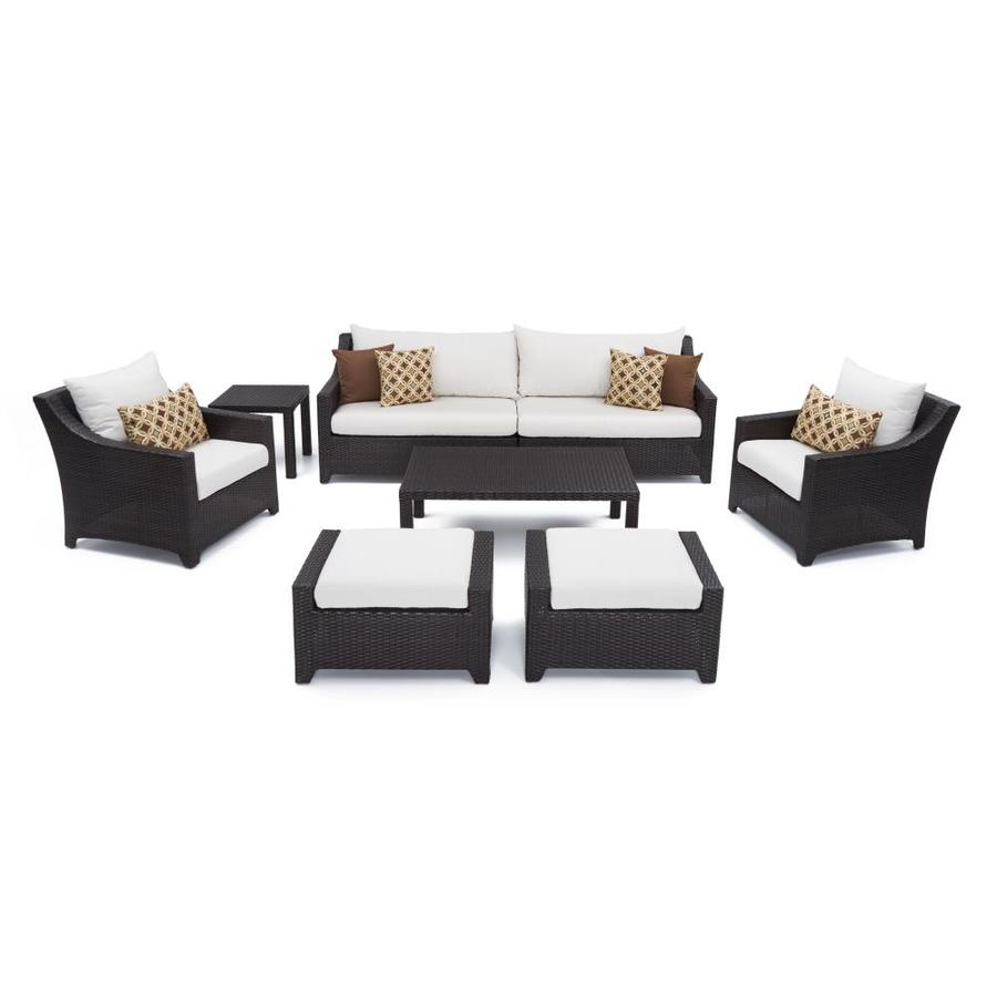 rst brands deco 8 piece metal frame patio conversation set with sunbrella cushion s included