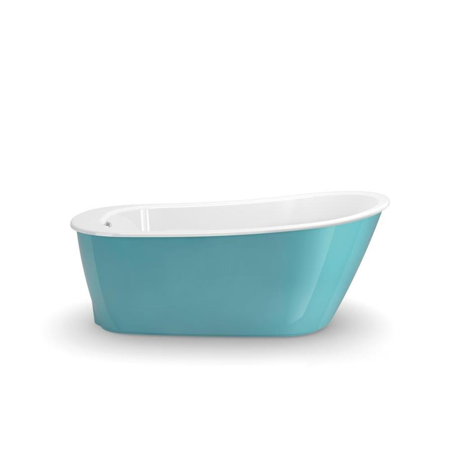 Shop MAAX Sax 60 In Aqua With Reversible Drain At