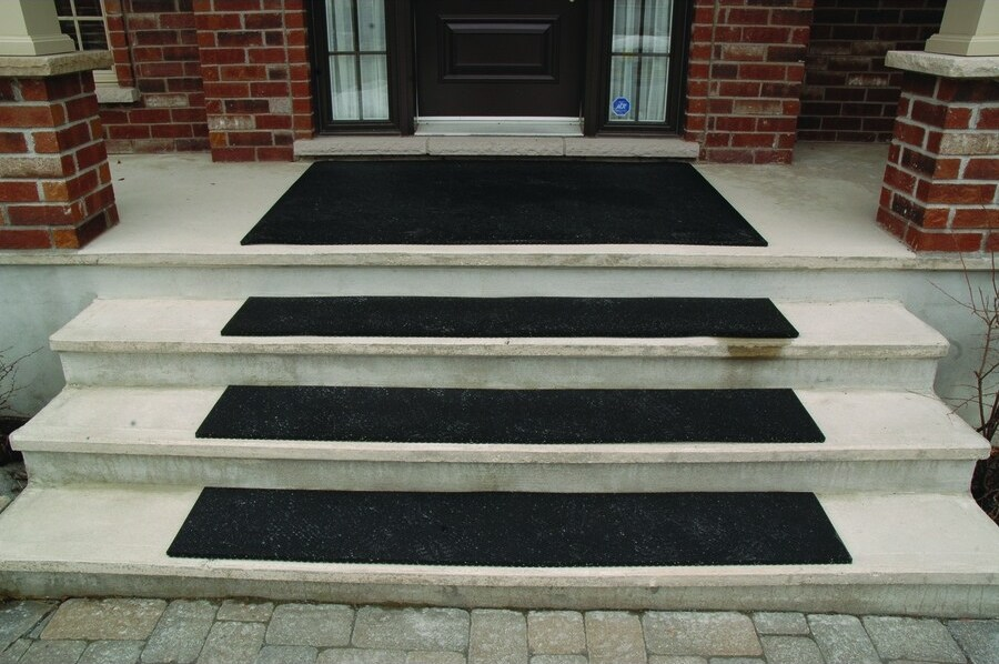Secure Step Black Rectangular Outdoor Stair Tread Mat Actual 10 | Non Skid Stair Treads Lowes | Aluminium Stair | Outdoor Stair | Staircase | Mat | Lowes Com