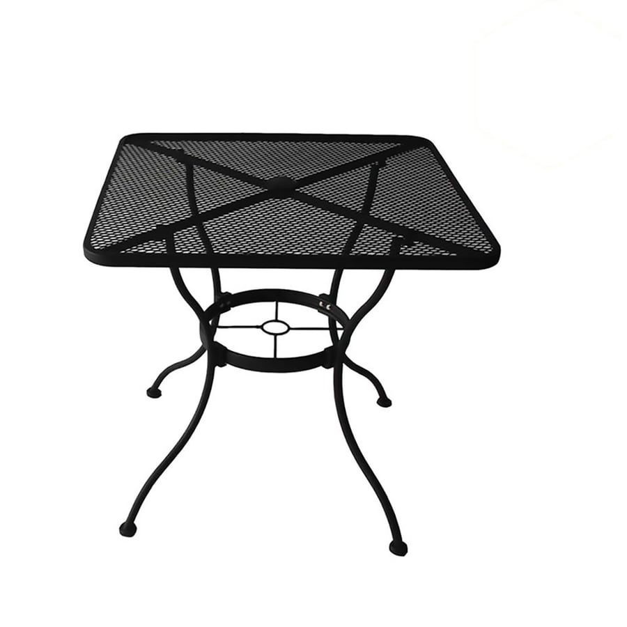 garden treasures davenport square outdoor dining table 30 in w x 30 in l with umbrella hole