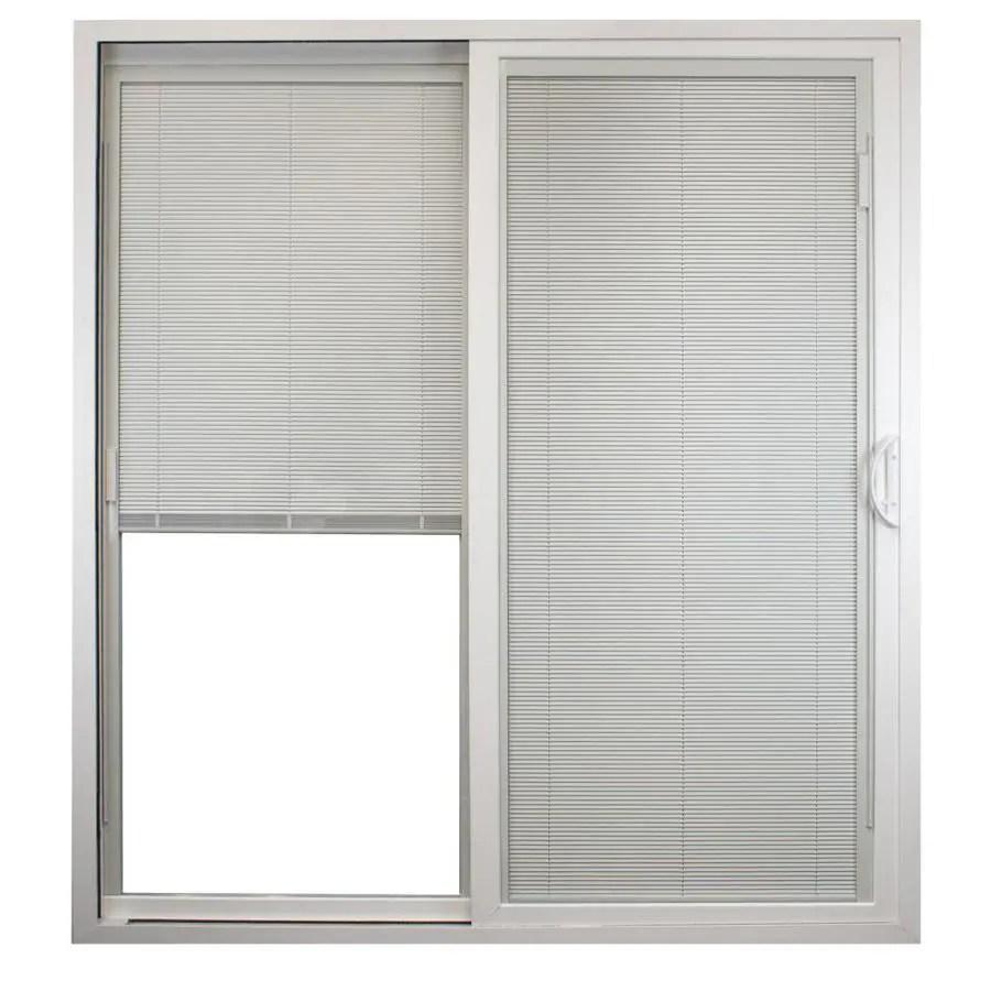 united window door 72 in x 80 in blinds between the glass vinyl right hand sliding patio door