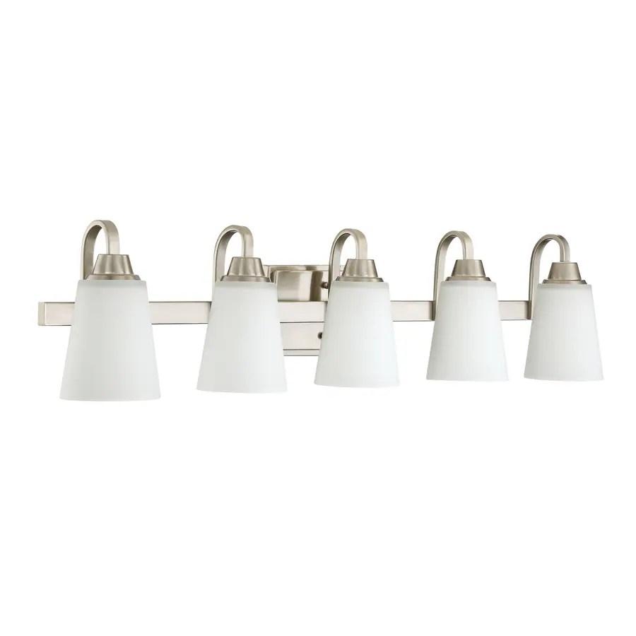 Craftmade Grace 5-Light Nickel Modern/Contemporary Vanity ...