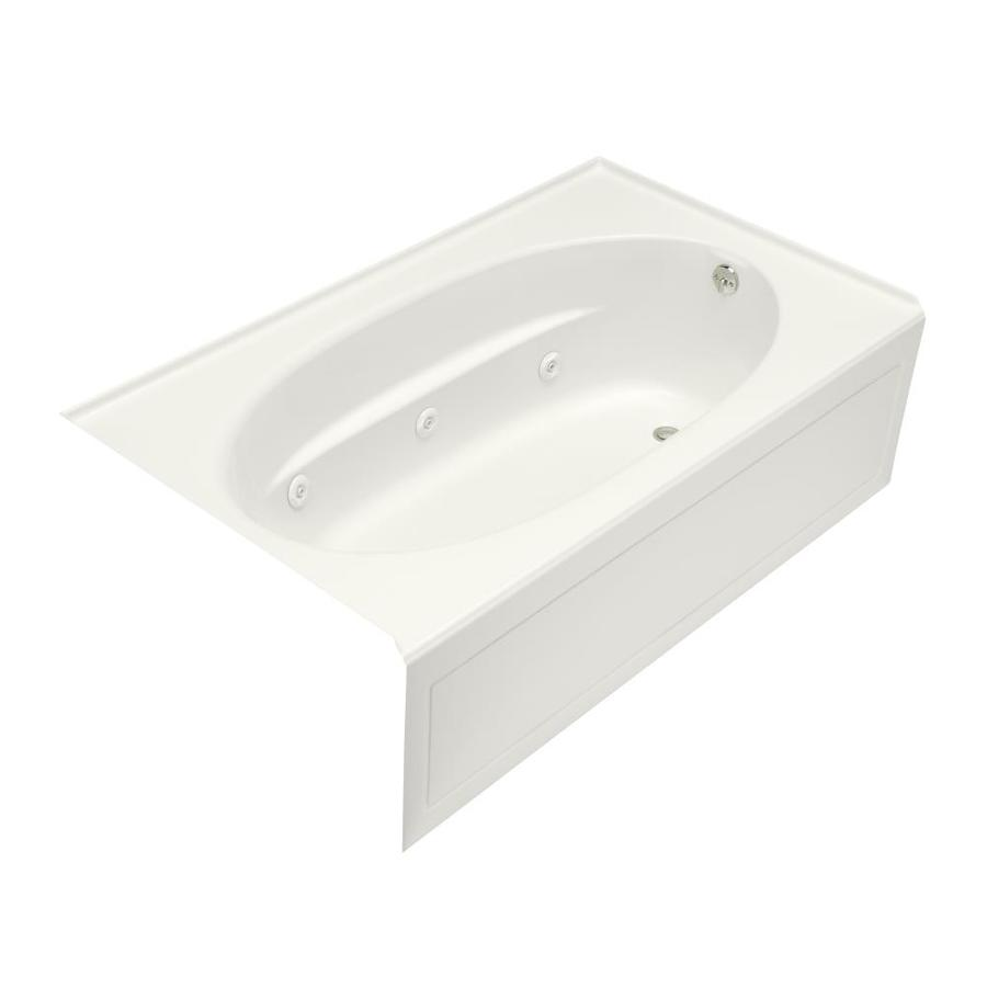 Shop KOHLER Windward 72 In White With Right Hand Drain At