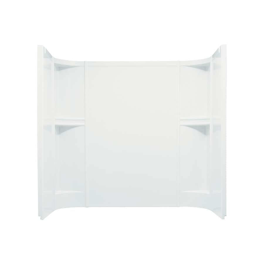 Shop Sterling Accord White Vikrell Bathtub Wall Surround Common 60 In X 30 In Actual 55 In X
