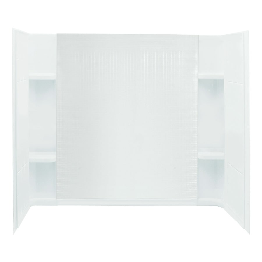 Shop Sterling Accord White Vikrell Bathtub Wall Surround Common 60 In X 32 In Actual 5525