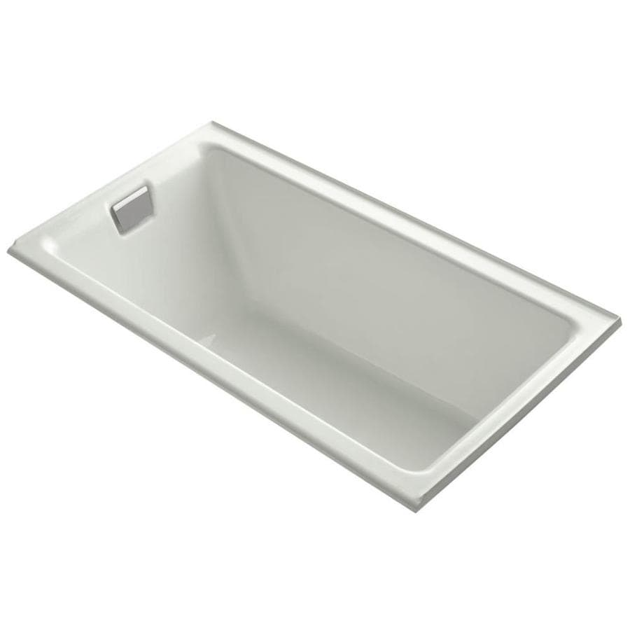 Shop KOHLER Tea For Two 66 In Dune With Left Hand Drain At
