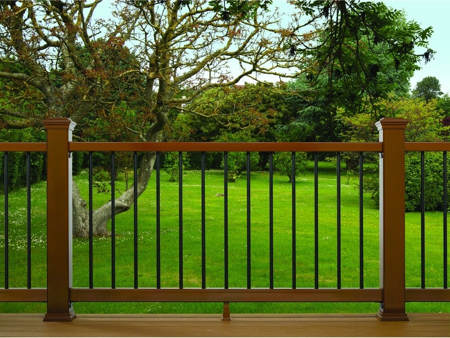 Trex Enhance 6 Ft X 2 75 In X 36 In Saddle Composite Deck With | Trex Enhance Stair Railing | Composite Decking | Trex Transcend | Lighting | Installation Instructions | Vintage Lantern