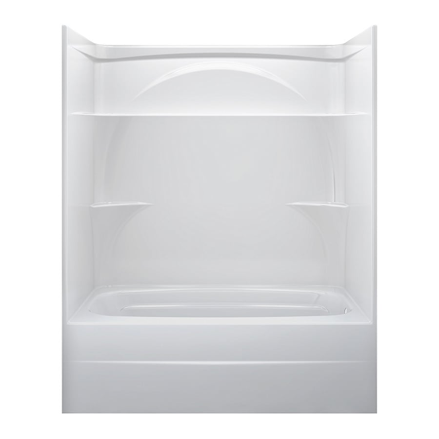 Shop Delta White Acrylic One Piece Bathtub Common 32 In X 60 In Actual 735 In X 32 In X 59