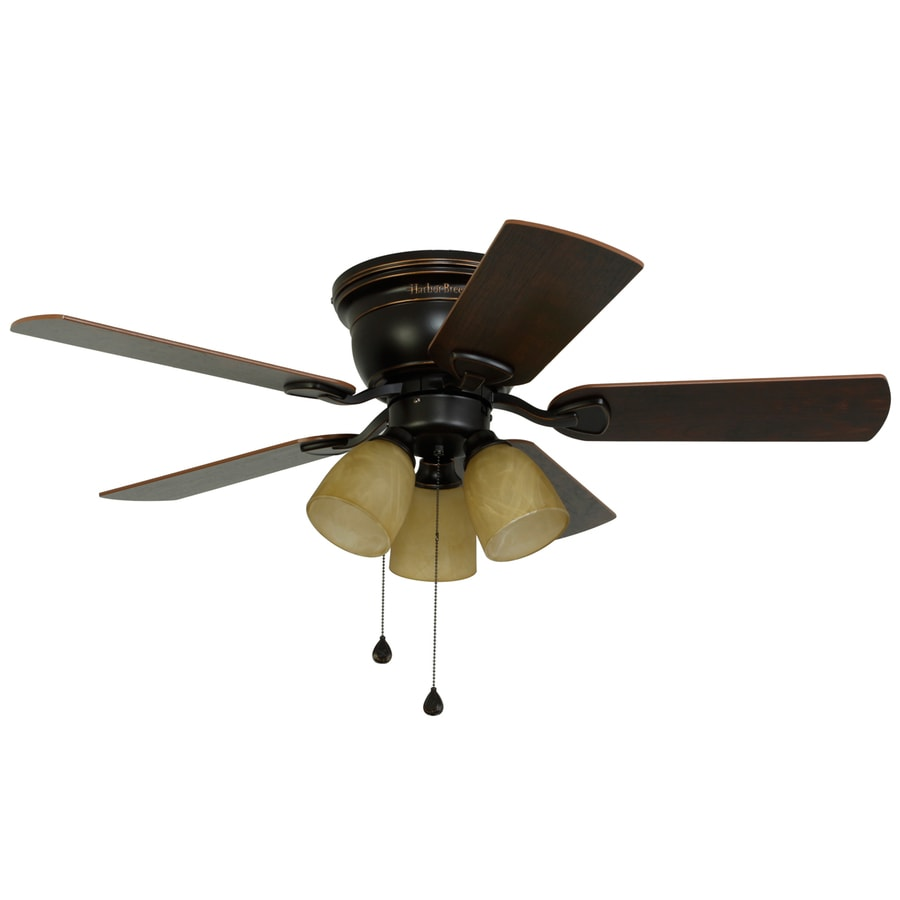 Harbor Breeze Centreville 42 In Oil Rubbed Bronze Indoor Ceiling Fan With Light Kit