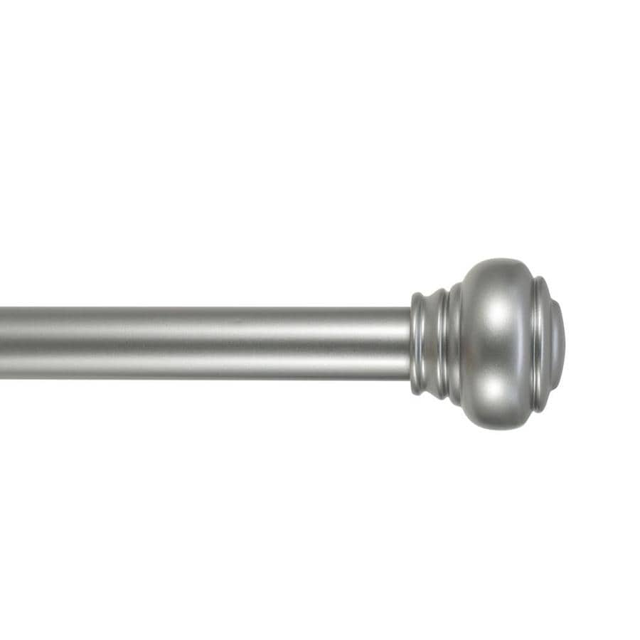 allen roth 36 in to 72 in brushed nickel steel single curtain rod