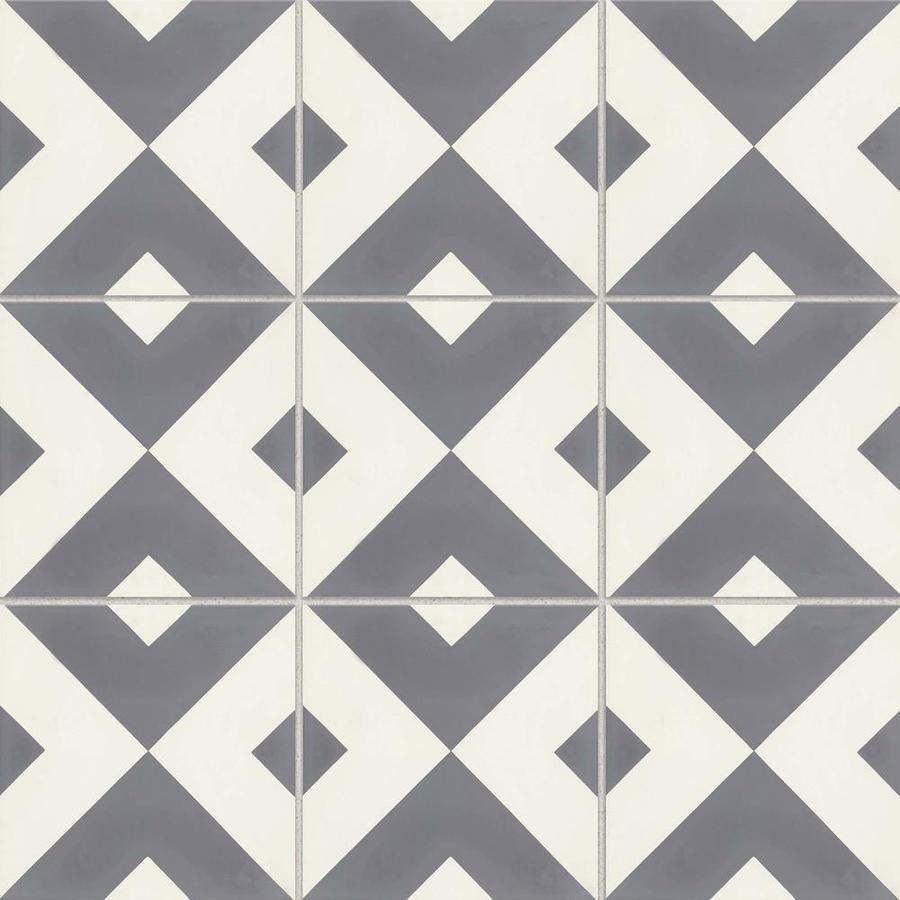 bedrosians remy 12 pack frame 8 in x 8 in matte cement encaustic tile