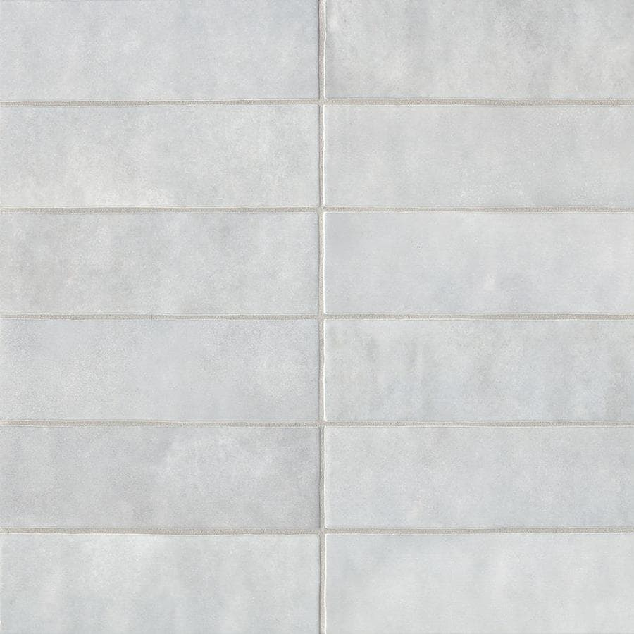 bedrosians cloe 76 pack grey 2 1 2 in x 8 in glossy ceramic subway wall tile