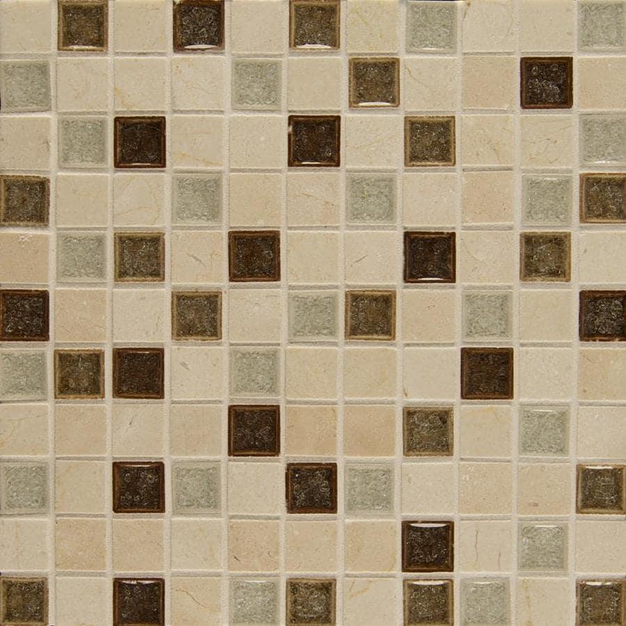 bedrosians kismet paradise 12 in x 12 in multi finish ceramic stone marble uniform squares wall tile