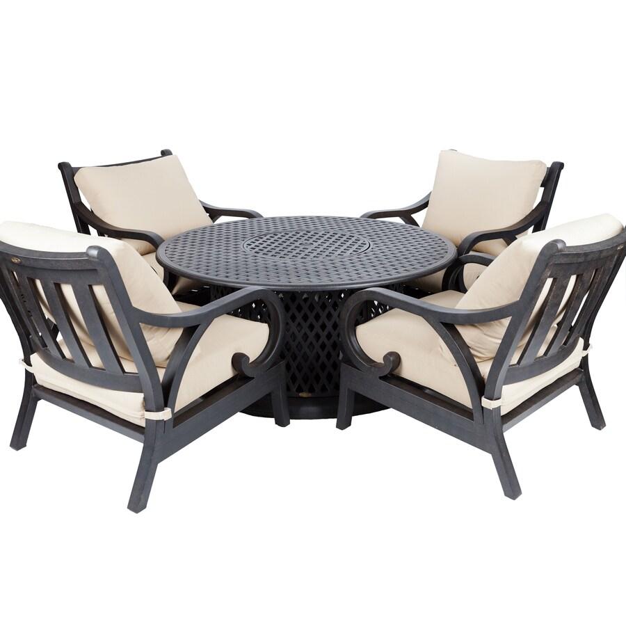 5 piece cast aluminum patio dining set