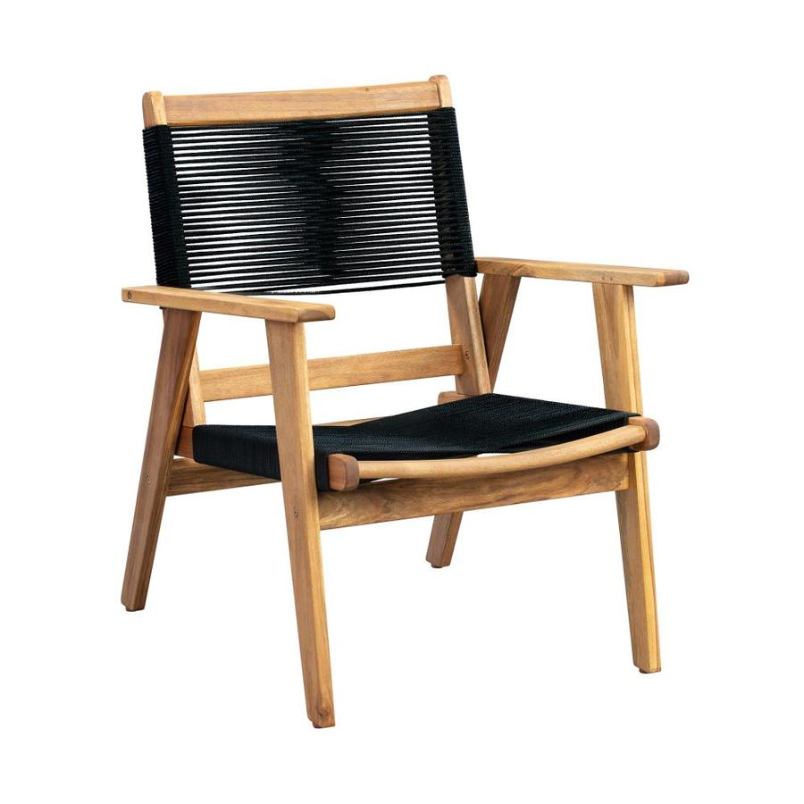 patio sense kingsmen wood wood frame stationary conversation chair s with woven seat