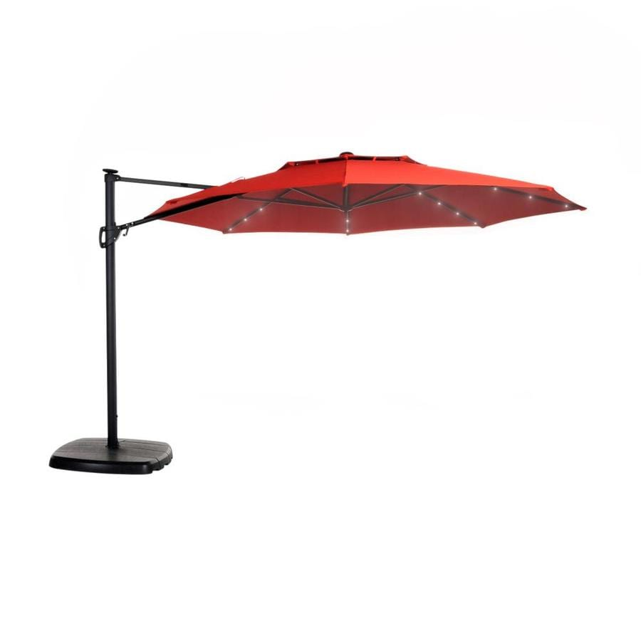 simplyshade 11 ft red solar powered