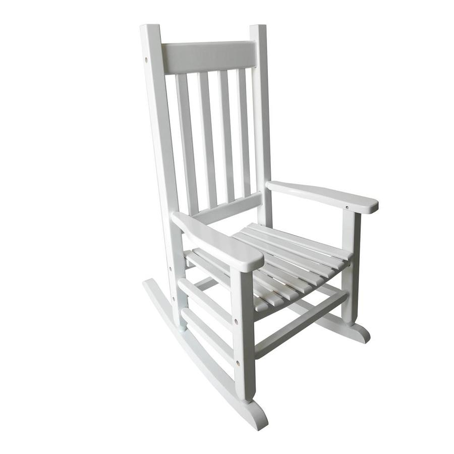 style selections children s white wood frame rocking chair s with slat seat seat