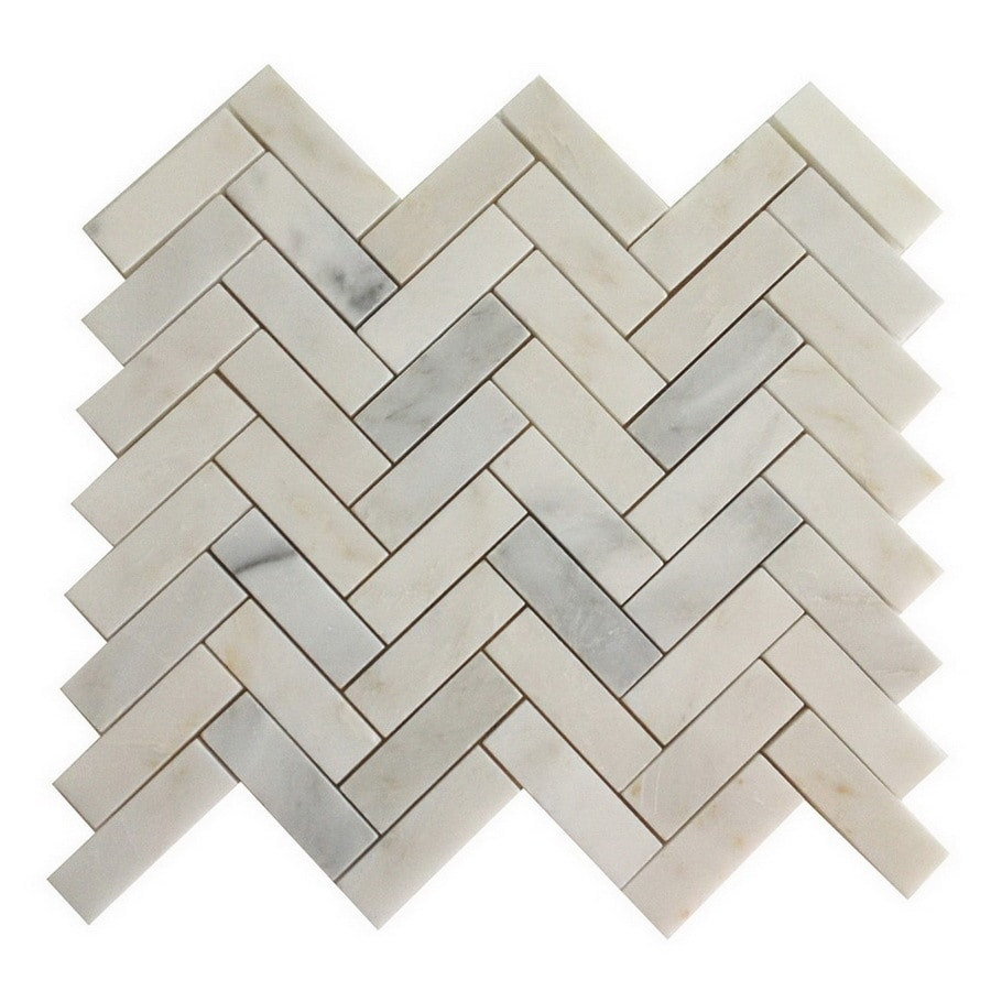 allen roth genuine stone white marble marble floor tile common actual 10 8 in x 12 4 in lowes com