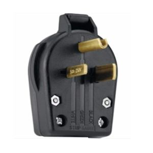 Shop Utilitech 50Amp 250Volt Black 3Wire Plug at Lowes