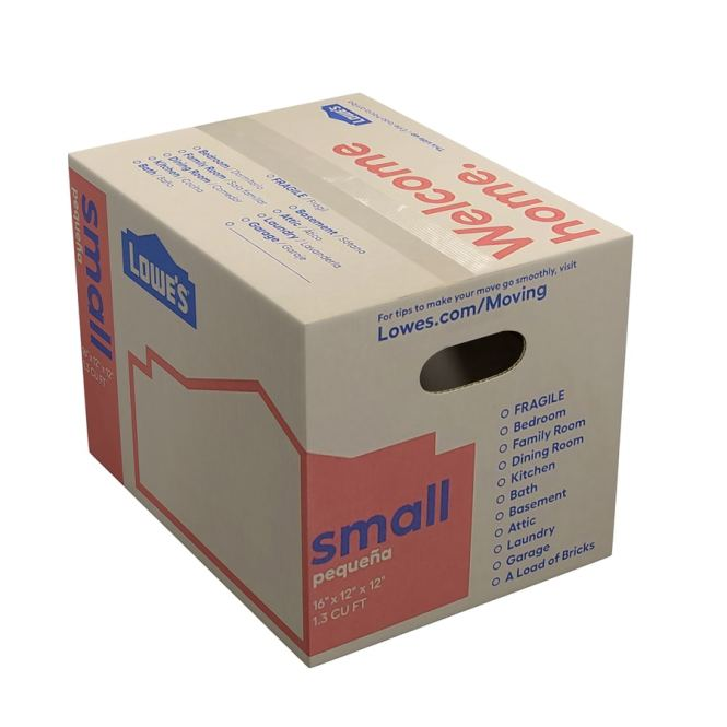 Lowe S Classic Small Heavy Duty Cardboard Moving Box Actual 16 In X 12