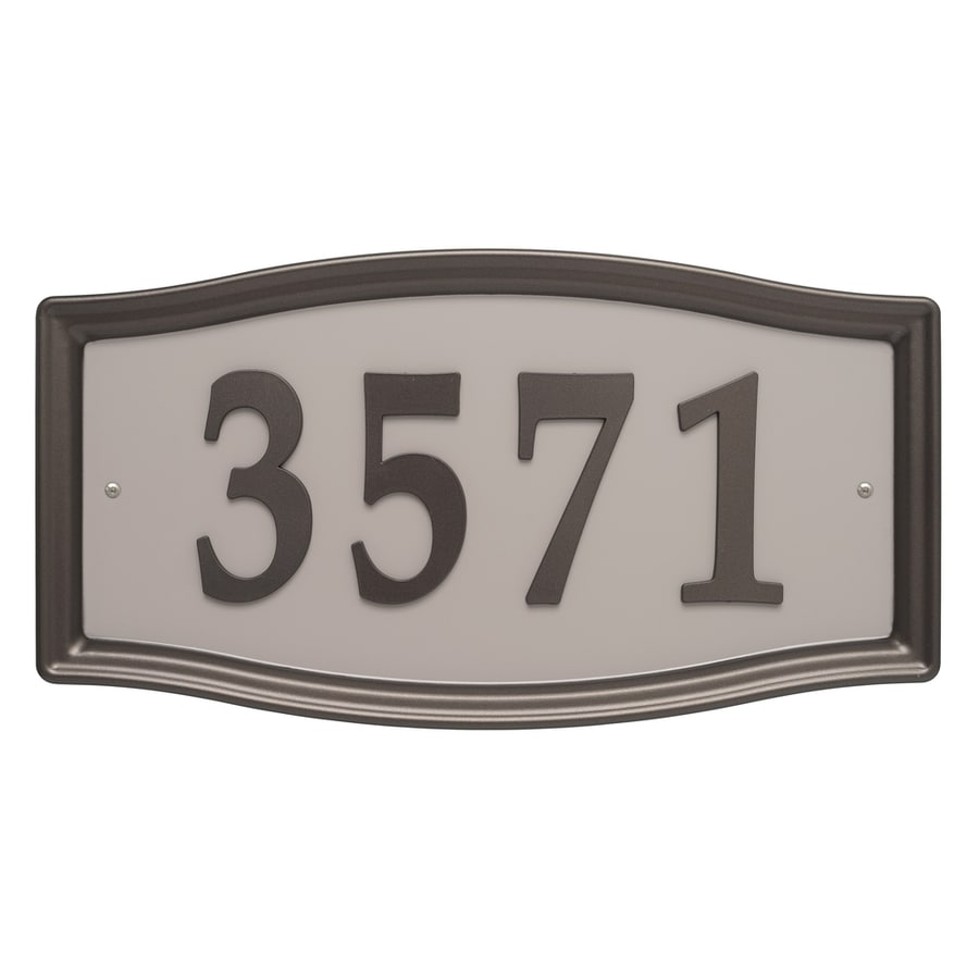 Shop House Letters   Numbers at Lowes com Whitehall 8 25 in Aged Bronze House Number Home Address System