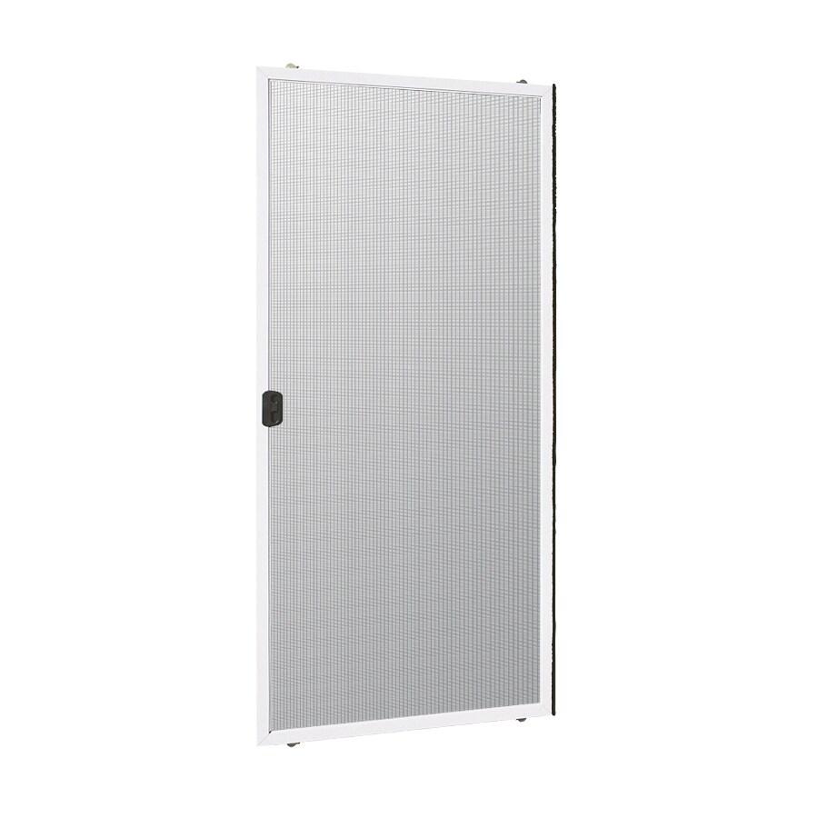 reliabilt 312 60 in x 80 in white aluminum frame sliding screen door