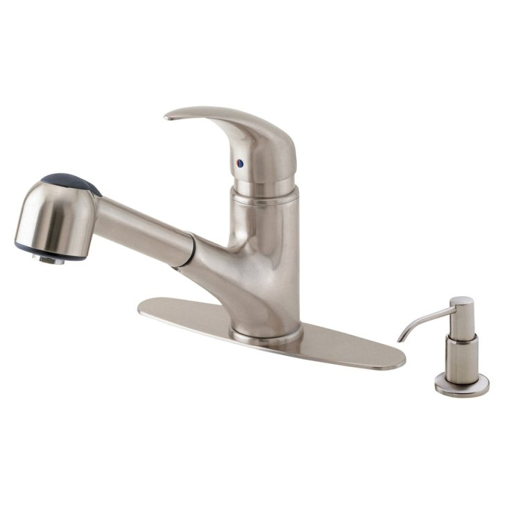 Shop Danze Melrose Stainless Steel Handle Pull Out Kitchen Faucet