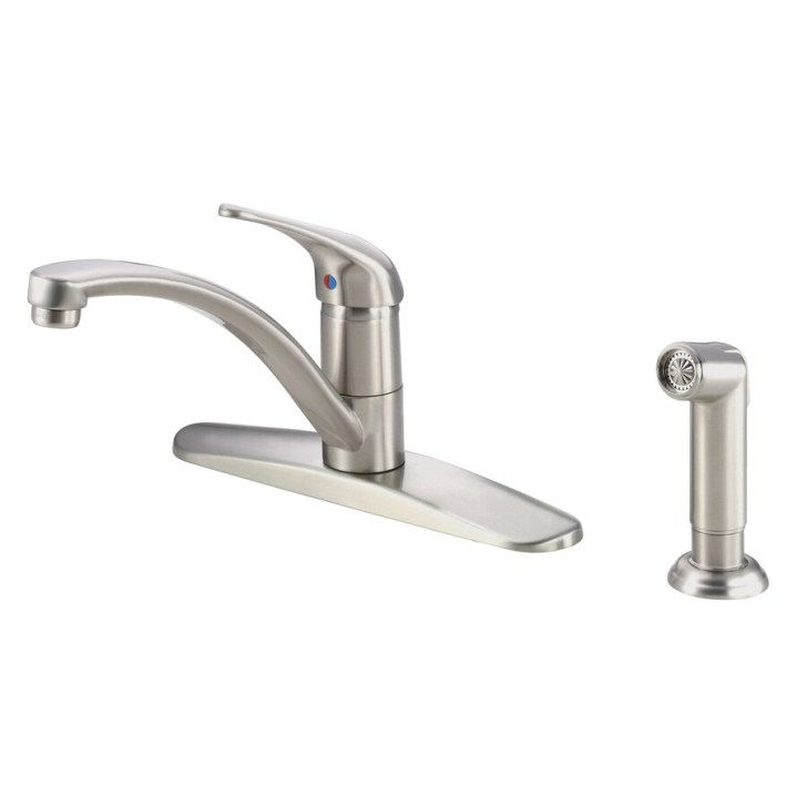 Shop Danze Melrose Stainless Steel Handle Low Arc Kitchen Faucet