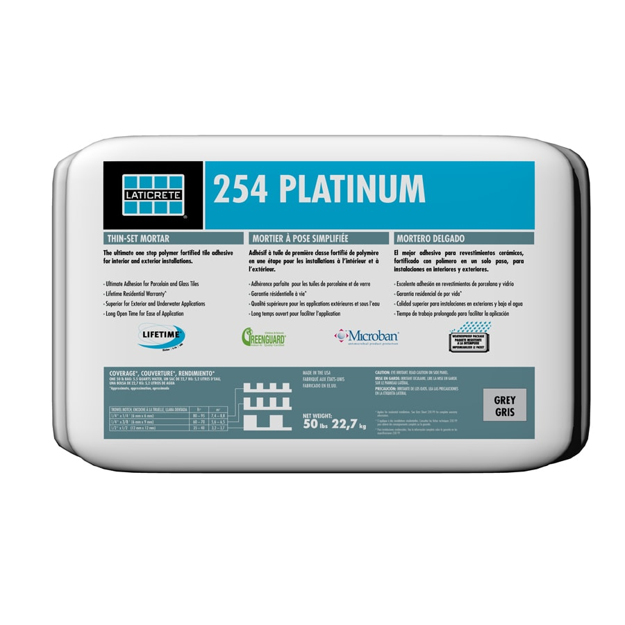 The ultimate one-step polymer fortified thin-set mortar for interior and exterior installation of ceramic tile porcelain tile Gauged Porcelain Tile PanelsSlabs GPTP stone quarry tile pavers and brick. Laticrete 50 Lb White Powder Dry Thinset Mortar In The Mortar Department At Lowes Com