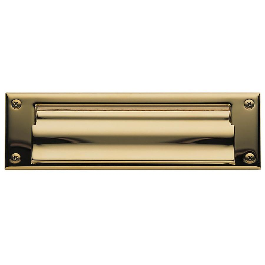 Baldwin Lifetime Polished Brass Mail Slot Mounting With