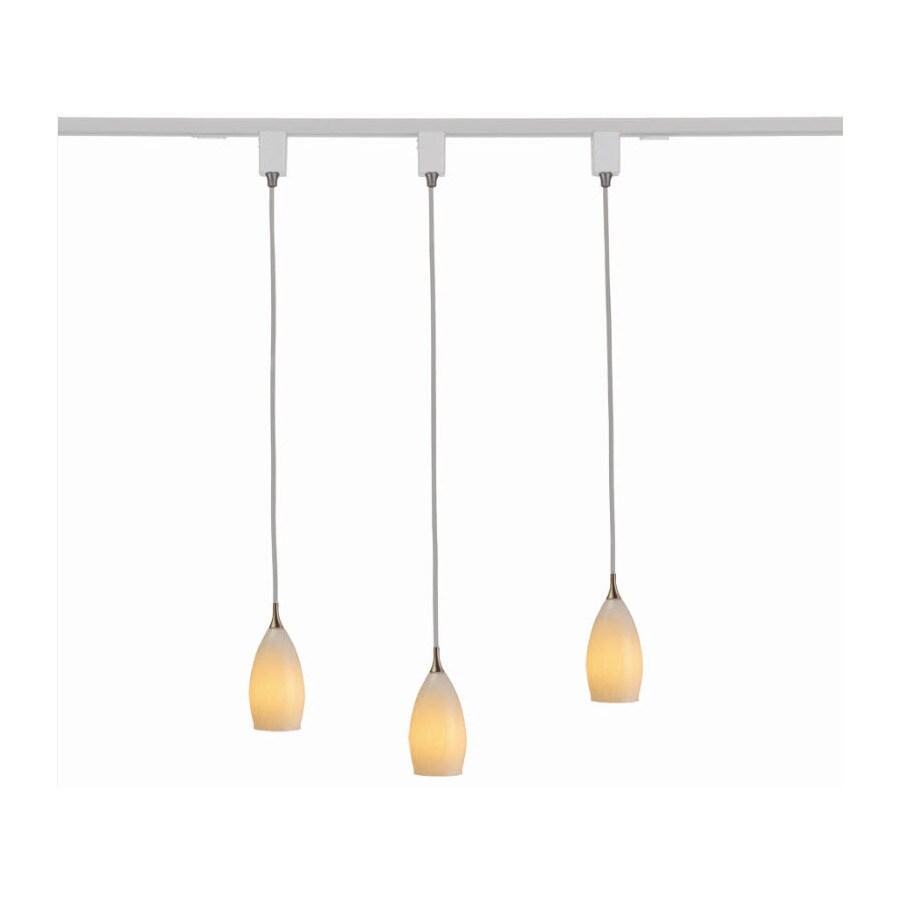 glass pendant linear track lighting kit