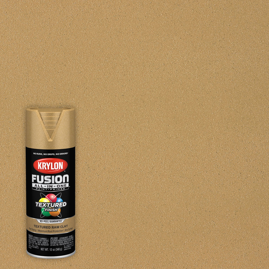 krylon acrylic enamel fusion all in one matte textured textured spray paint and primer in one net wt 12 oz