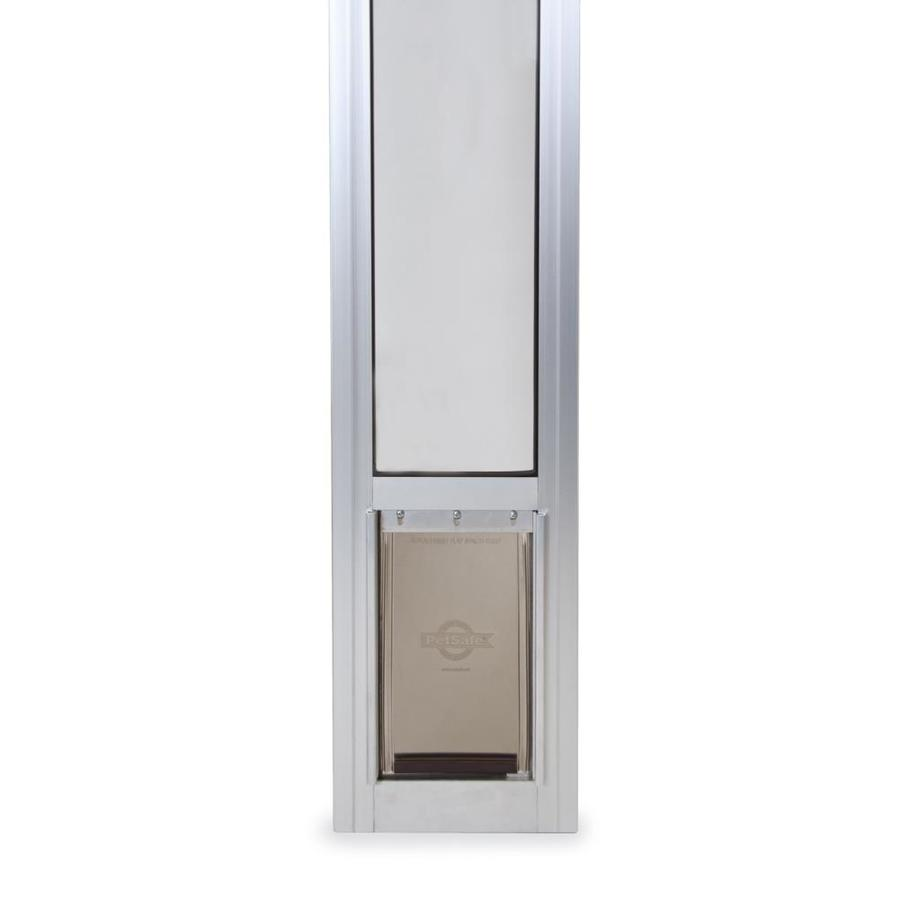 petsafe patio panel small 25 lb or less off white aluminum sliding pet door