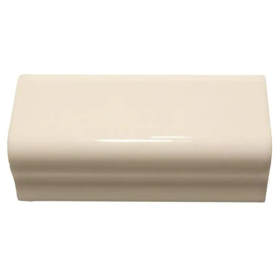 gloss ceramic bullnose tile
