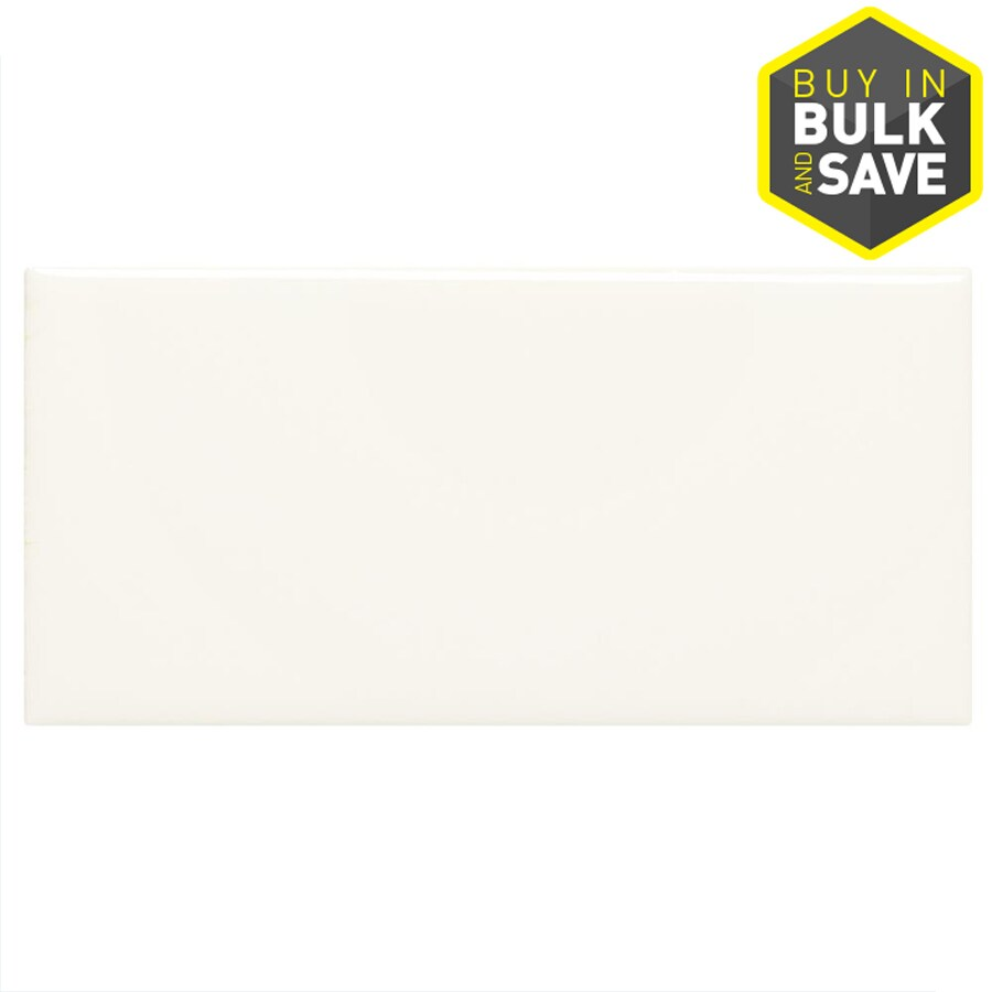 american olean starting line gloss white 3 in x 6 in glazed ceramic subway wall tile