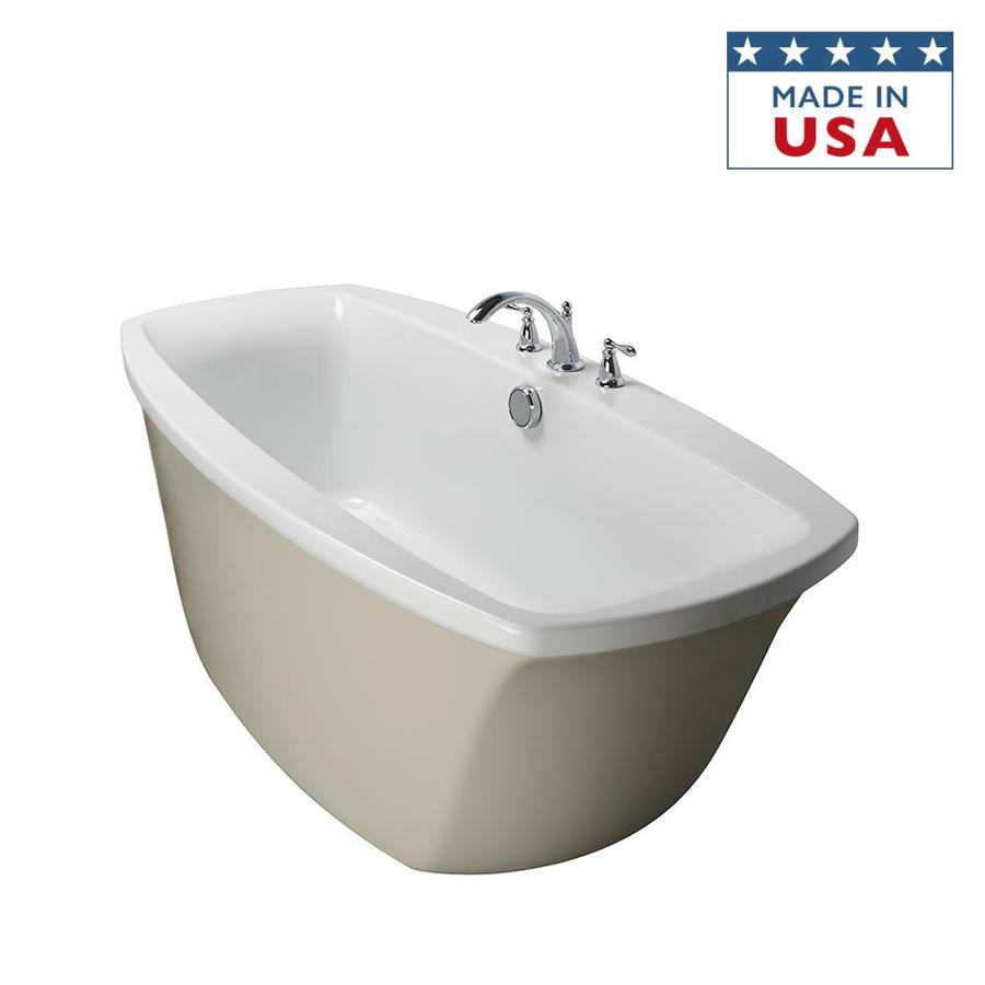 Shop Jacuzzi Primo 66 In AlmondWhite With Center Drain At