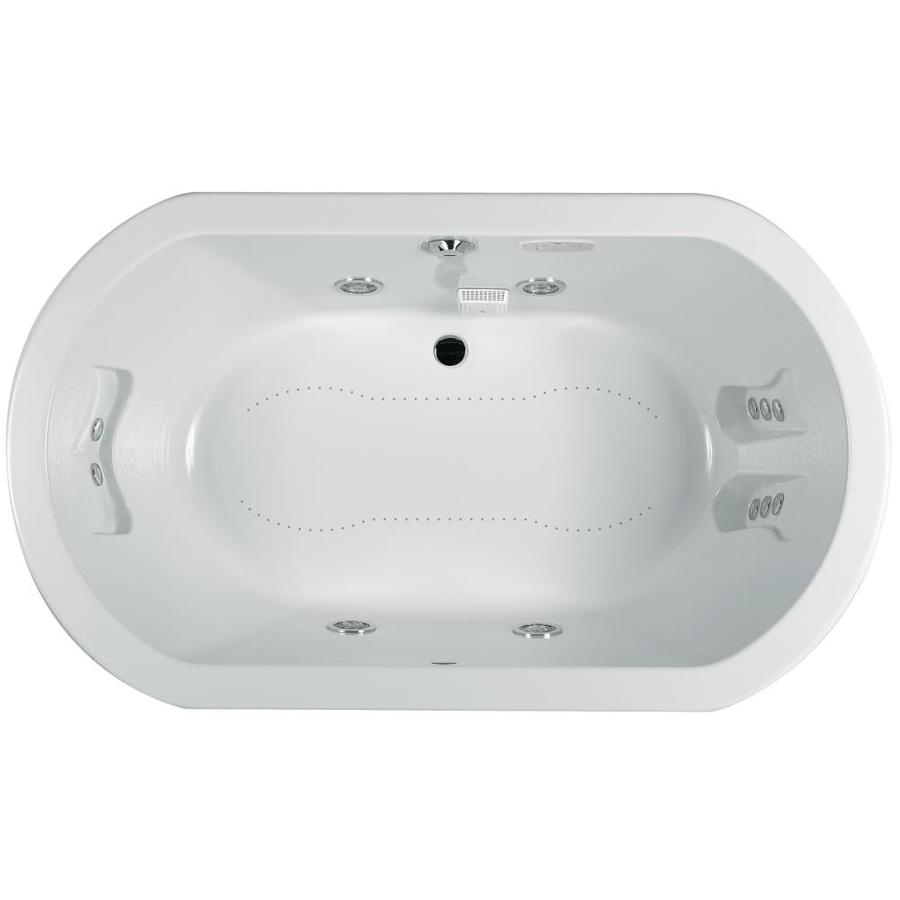 Jacuzzi Anza 66 In White Acrylic Oval Center Drain Drop In