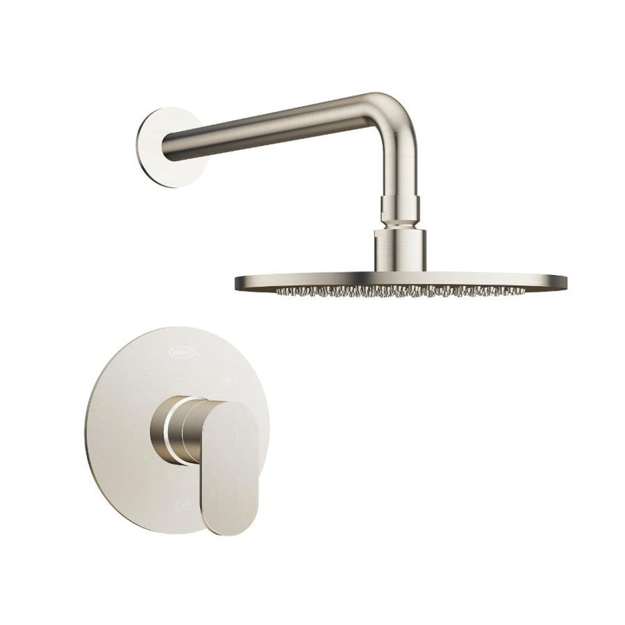 jacuzzi razzo brushed nickel 1 handle shower faucet with valve