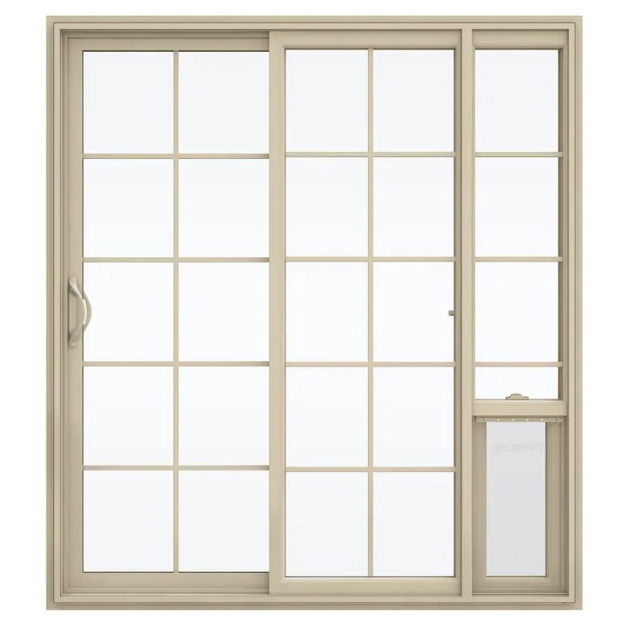 grilles between the glass patio doors