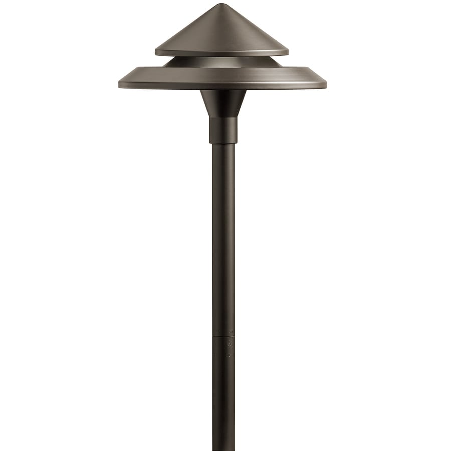 kichler 3 watt olde bronze low voltage hardwired led path light in the path lights department at lowes com
