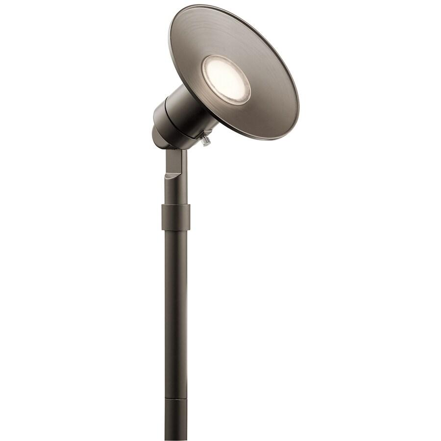 kichler 400 lumen 5 watt olde bronze low voltage hardwired led landscape flood light