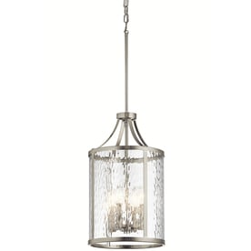 Kichler Marita 12 In Brushed Nickel Hardwired Multi Light Clear Glass Cage Pendant