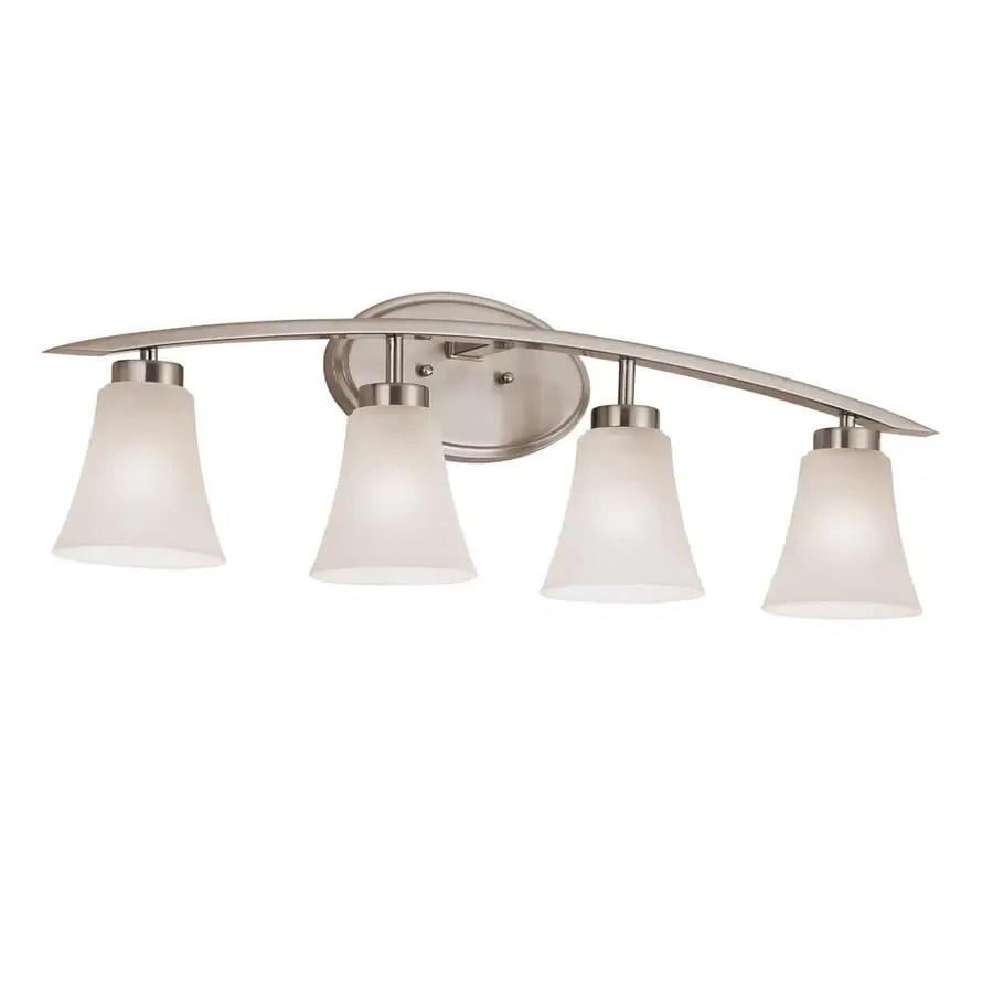 portfolio lyndsay 4 light nickel transitional vanity light bar