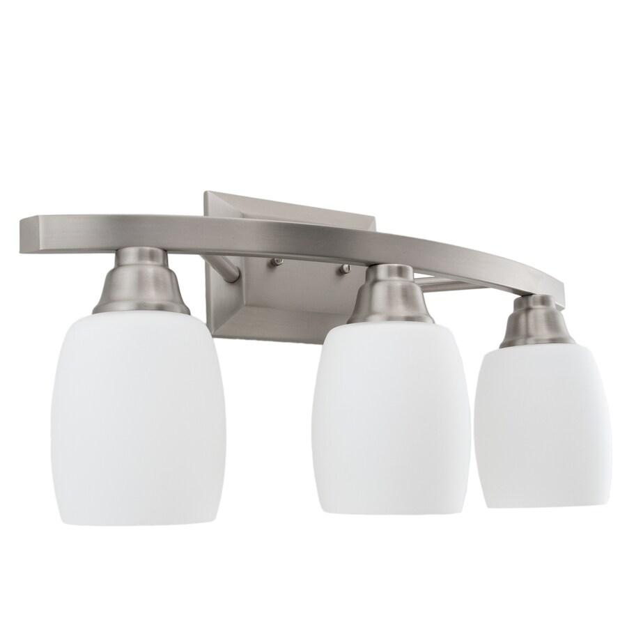 allen roth 3 light nickel modern contemporary vanity light