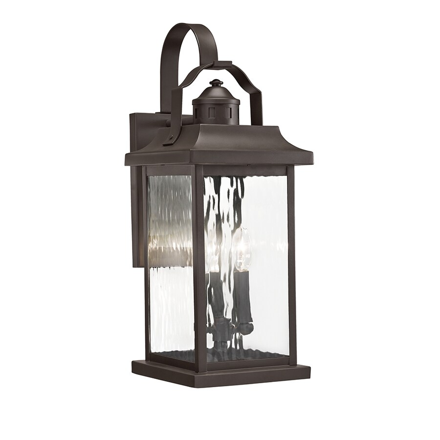 kichler linford 22 25 in h olde bronze candelabra base e 12 outdoor wall light