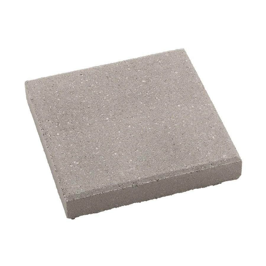 square 12 in l x 12 in w x 2 in h patio stone