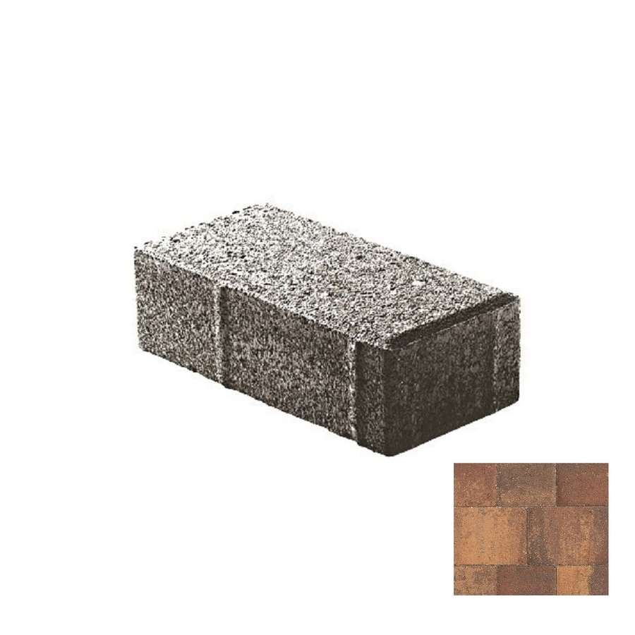 oldcastle holland stone 8 in l x 4 in w x 2 in h concrete patio kit