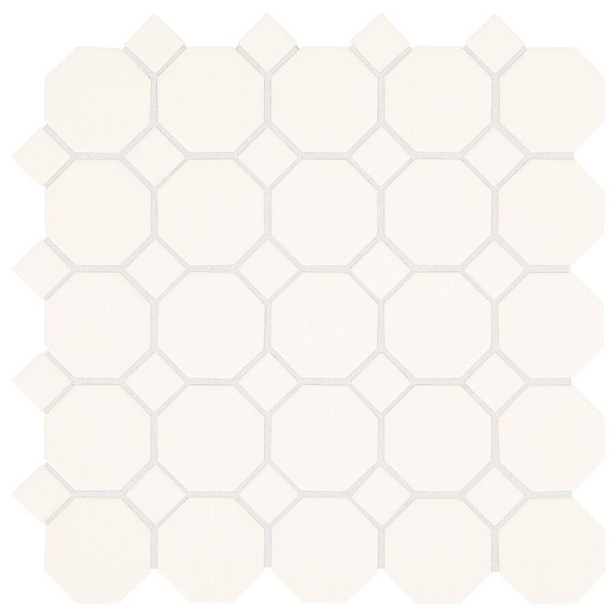 american olean sausalito white white 12 in x 12 in glazed ceramic honeycomb tile