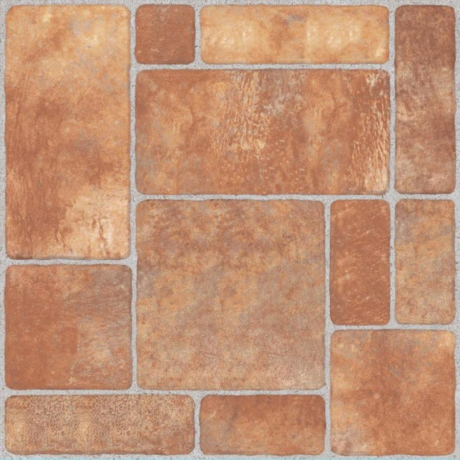 style selections cavello brown 20 in x 20 in matte ceramic stone look floor and wall tile
